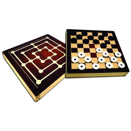 Jogo de Dama e Trilha - Maninho Artesanatos