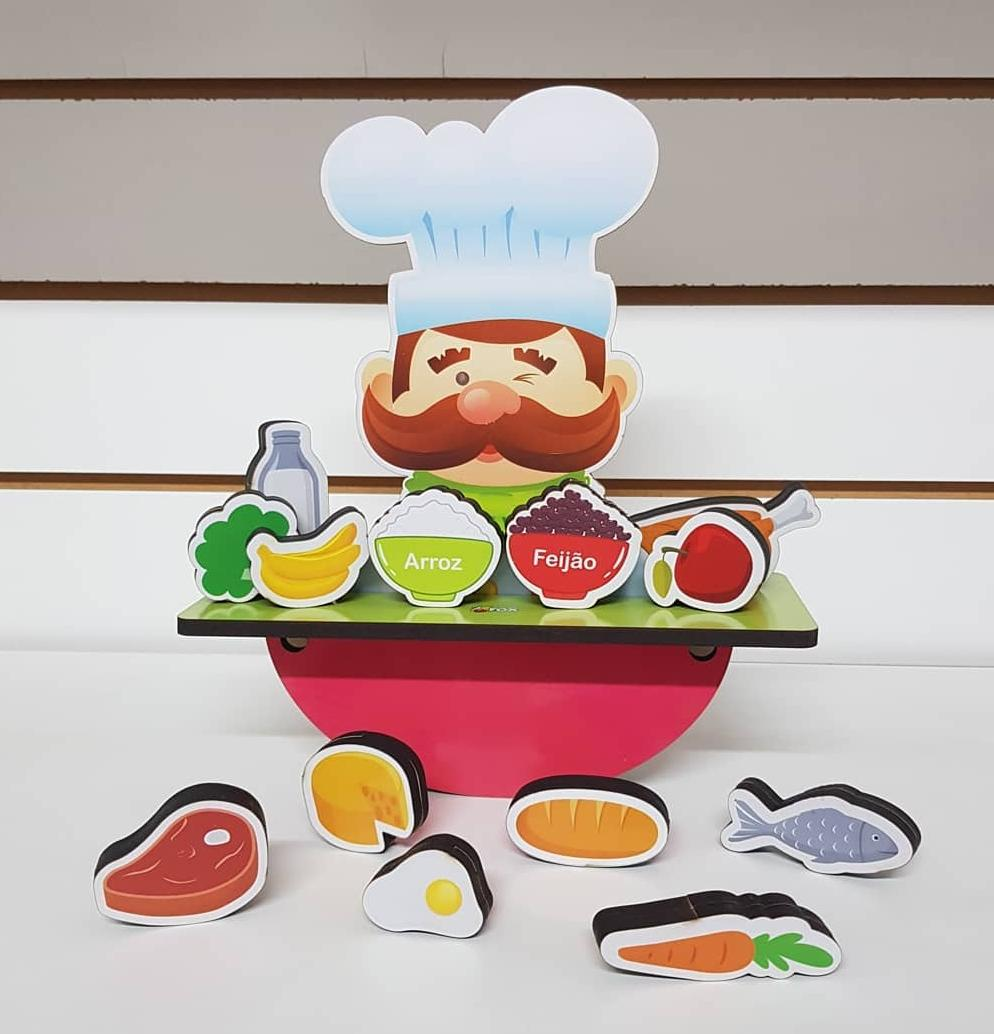 Jogo do Equilíbrio Alimentar 12 Peças - Fox Educativos
