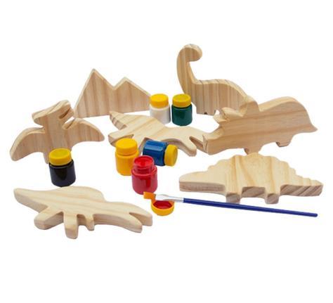 Kit Dinossauros para Colorir 6 Peças - Fabrika dos Sonhos
