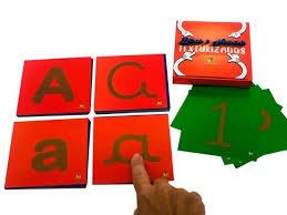 Letras e Números Texturizados - Materiais para Brincar