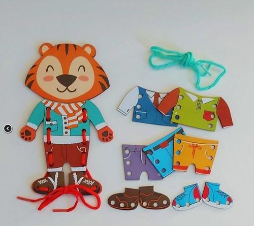Meus Primeiros Alinhavos Tigre Fashion - Bate Bumbo