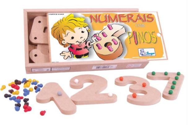 Numeral com Pinos Coloridos com 10 Peças - Simque