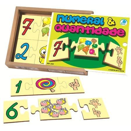 Numeral e Quantidade com 30 Peças - Simque