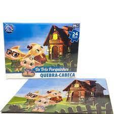 Quebra-Cabeça 3 Porquinhos 24 peças - Pais & Filhos