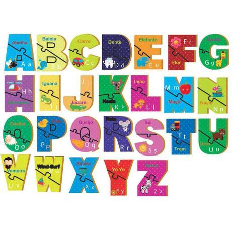 Quebra-Cabeça Aprendendo o ABC - Brincadeira de Criança