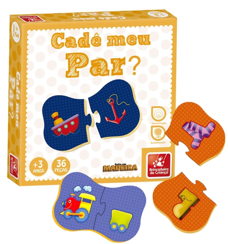 Quebra-Cabeça Cadê meu Par 36 peças - Brincadeira de Criança