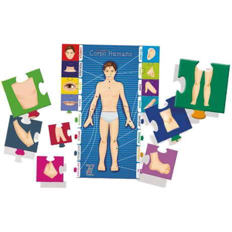 Quebra-Cabeça Conheça o Corpo Humano 18 Peças - Brincadeira de Criança