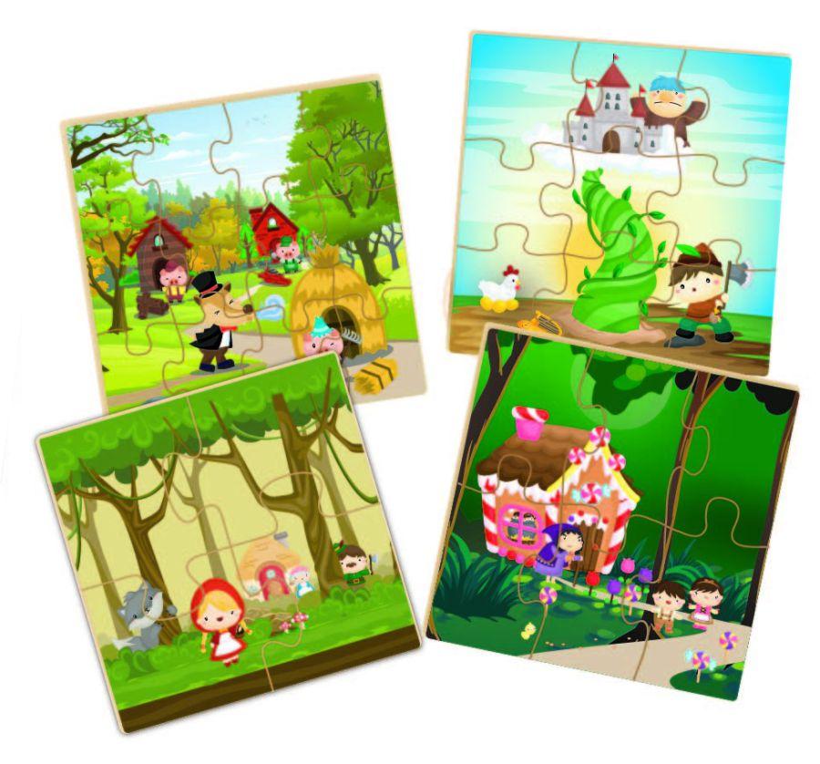 Quebra-Cabeça Contando Historinhas 31 Peças - Brincadeira de Criança