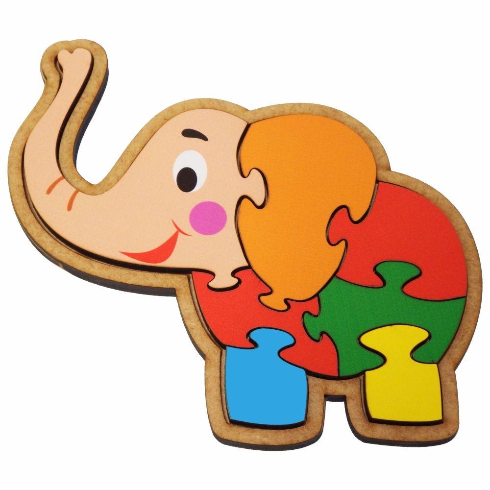 Quebra-Cabeça Elefante 7 Peças  Maninho Artesanatos