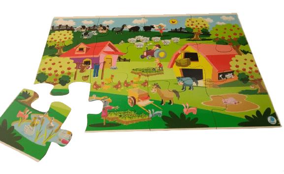 Quebra-Cabeça Gigante Fazenda 12 Peças – Simque