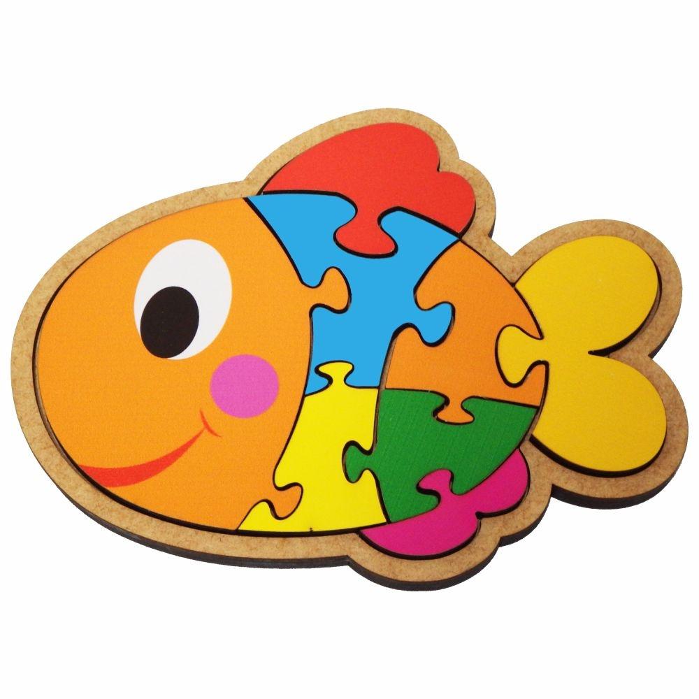 Quebra-Cabeça Peixe 8 Peças  Maninho Artesanatos