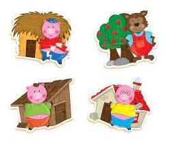 Quebra-Cabeça Progressivo - Os Três Porquinhos Madeira 30 peças - Nig