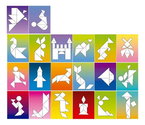 Quebra-Cabeça Tangram 62 Peças - Brincadeira de Criança