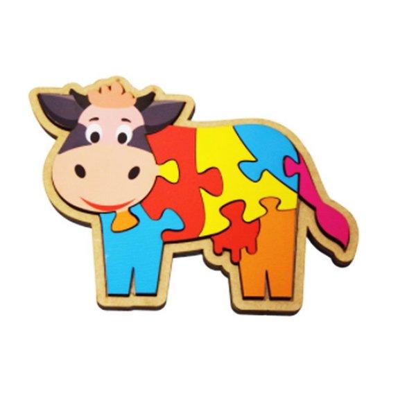 Quebra-Cabeça Vaca 8 Peças  Maninho Artesanatos