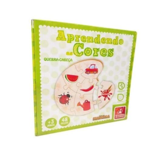 Quebra-Cabeças Aprendendo as Cores 48 Peças - Brincadeira de Criança