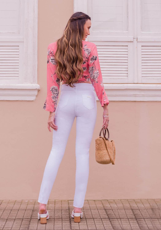 Calça Feminina Alta Skinny Branca