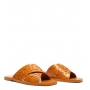 Sandália Rasteira de X Logo Jellys Laranja Tangerina Schutz