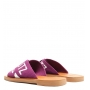 Sandália Rasteira de X Violet Pink Schutz