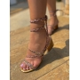 Sandália Salto Baixo Bronze Luiza Barcelos