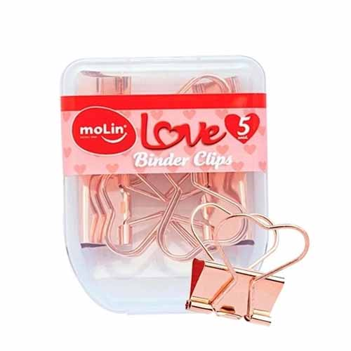 BINDER CLIPS LOVE HEART LOVE 25 MM