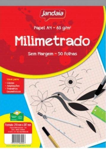 BLOCO DE PAPEL DESENHO MILIMETRADO A3 S/ MARGEM 50 FLS