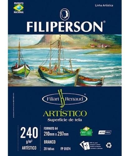 BLOCO FILIART RENAUD ARTISTICO BRANCO A4 240G 210X297 20FLS