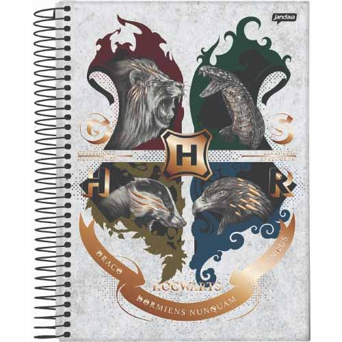 CADERNETA 1/8 CD ESPIRAL 96FLS HARRY POTTER 21