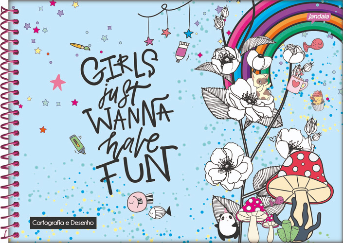 CADERNO CD ESPIRAL CARTOGRAFIA 96 FLS IT GIRL 21