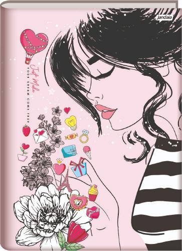 CADERNO UNIV.CD BROCHURA 96FLS IT GIRL 21