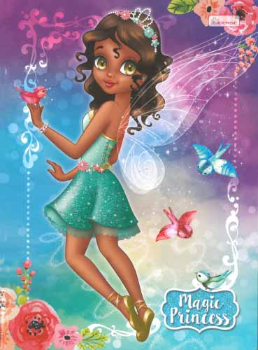 CADERNO UNIV.CD BROCHURA  96FLS MAGIC PRINCESS