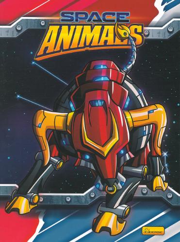 CADERNO UNIV.CD BROCHURA  96FLS SPACE ANIMALS