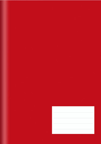 CADERNO UNIV.CD BROCHURA LISO 48FLS VERMELHO