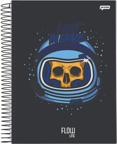 CADERNO UNIV.CD ESPIRAL 10 MATERIAS 160FLS FLOW 21
