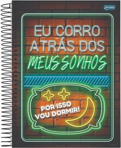 CADERNO UNIV.CD ESPIRAL 10 MATERIAS 160FLS PLACAS HUMOR 21