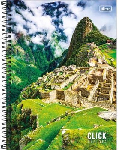 CADERNO UNIV. CD ESPIRAL 12 MATERIAS 192FLS CLICK EXPLORA