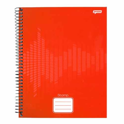 CADERNO UNIV.CD ESPIRAL 1 MAT 96FLS STOMP(SORTIDOS) 21