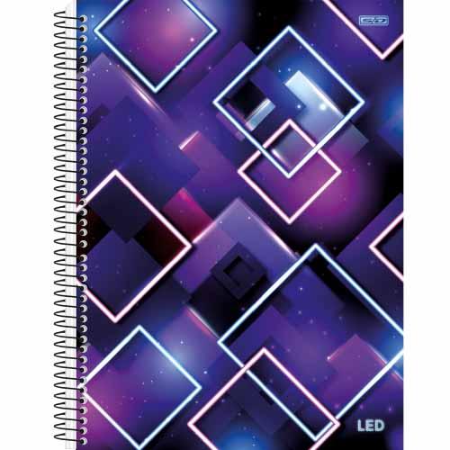 CADERNO UNIV.CD ESPIRAL 1 MATERIA 80FLS LED 21