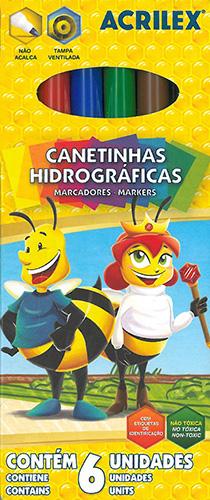 CANETA HIDROGRAFICA LAVAVEL C/6