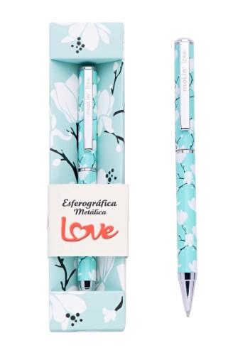 CANETA METALICA LOVE FLOWERG