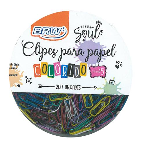 CLIPS CLORIDOS TAM 5 CORES PASTEL 200UNDS