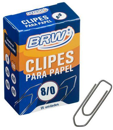 CLIPS PAPEL Nº8/0 25 UN