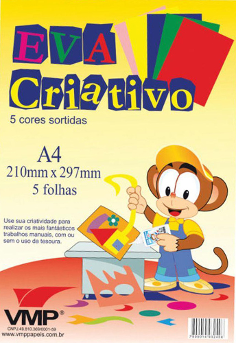 EVA CRIATIVO A4 5FLS 5CORES