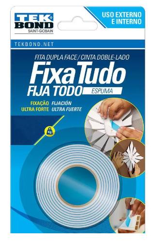 FITA FIXA TUDO EXPUMA USO INTERO E EXTERNO 24MMX1,5M BLISTER
