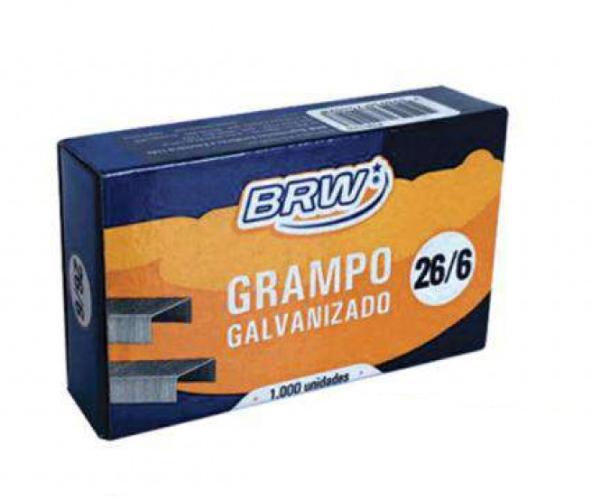 GRAMPO GALVANIZADO 26/6 1000UN