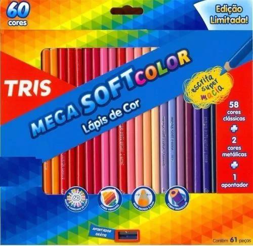 LAPIS DE COR 60 CORES MEGA SOFT COLOR +1 APONTADOR