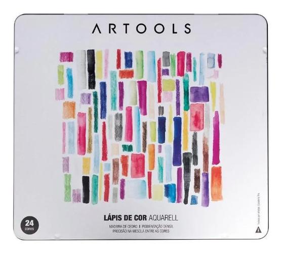LAPIS DE COR ARTOOLS AQUARELL 24 CORES + PINCEL