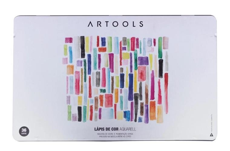 LAPIS DE COR ARTOOLS AQUARELL 36 CORES + PINCEL