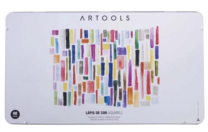 LAPIS DE COR ARTOOLS AQUARELL 60 CORES + PINCEL
