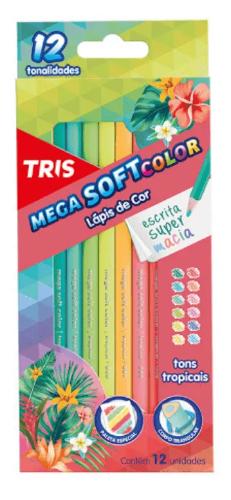 LAPIS DE COR MEGA SOFT COLOR TONS TROPICAIS C/ 12 CORES
