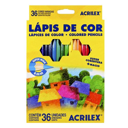 LAPIS DE COR SEXTAVADO 36 CORES 4MM